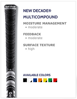 Golf Pride New Decade Multi-Compound Golf Grips