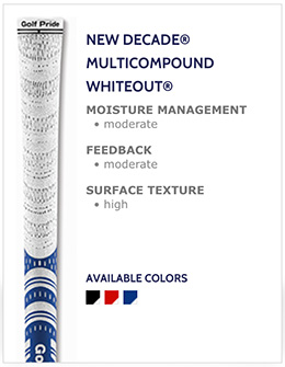 Golf Pride New Decade Multi-Compound Whiteout Golf Grips