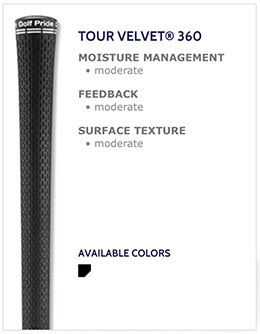 Golf Pride Tour Velvet 360 Golf Grips