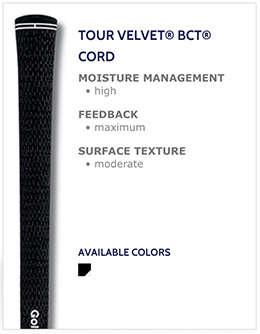 Golf Pride Tour Velvet BCT Cord Golf Grips