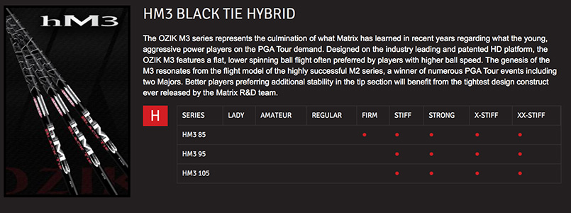 Matrix HM3 Black Tie Hybrid Shaft